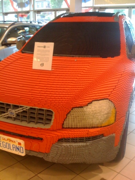 A life size LEGO car! on TwitPic